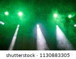 green light  smoke  floodlight... | Shutterstock . vector #1130883305