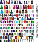 large set of clothes for men... | Shutterstock .eps vector #113088607