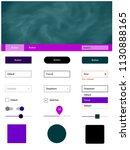 dark purple vector style guide...