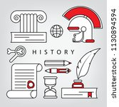 set of linear cretive icons for ... | Shutterstock .eps vector #1130894594
