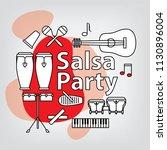 salsa party logo concept.... | Shutterstock .eps vector #1130896004
