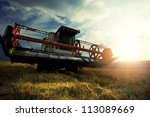 harvesting machine | Shutterstock . vector #113089669