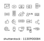 marketing and live video set...   Shutterstock .eps vector #1130900084