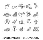 business and startup icons set...   Shutterstock .eps vector #1130900087