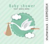 baby shower card | Shutterstock .eps vector #1130902814