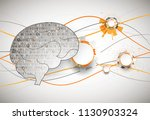 abstract digital brain... | Shutterstock .eps vector #1130903324