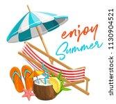 vector summer time banner.... | Shutterstock .eps vector #1130904521