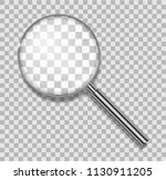 magnifying glass with steel... | Shutterstock .eps vector #1130911205