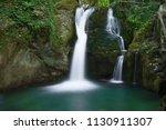the beautiful waterfall in...   Shutterstock . vector #1130911307
