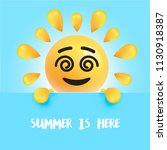funny sun smiley with the title ... | Shutterstock .eps vector #1130918387
