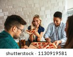 shot of a group of friends... | Shutterstock . vector #1130919581