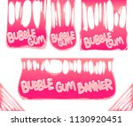 bubble gum banners isolated on... | Shutterstock .eps vector #1130920451