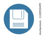 floppy disk icon in badge style ... | Shutterstock .eps vector #1130920499