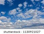 beautiful fluffy clouds on a...   Shutterstock . vector #1130921027