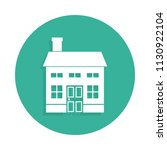 two storey house icon in badge... | Shutterstock .eps vector #1130922104