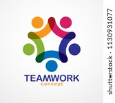 teamwork businessman unity and... | Shutterstock .eps vector #1130931077
