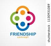 teamwork and friendship concept ...   Shutterstock .eps vector #1130931089
