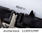 "word ""news"" written with old... 