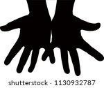 hands black color silhouette... | Shutterstock .eps vector #1130932787