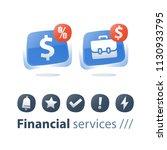 investment portfolio  mutual... | Shutterstock .eps vector #1130933795