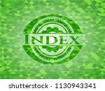 index realistic green mosaic... | Shutterstock .eps vector #1130943341