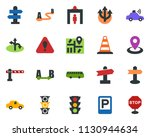 colored vector icon set  ...   Shutterstock .eps vector #1130944634
