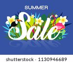summer sale banner design...   Shutterstock .eps vector #1130946689