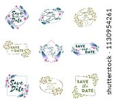 save the date. wedding... | Shutterstock .eps vector #1130954261
