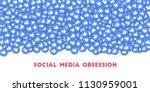 may 01  2018  social media... | Shutterstock . vector #1130959001