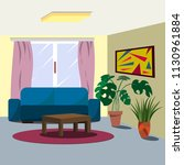 vector image of a room interior ... | Shutterstock .eps vector #1130961884