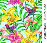 tropical seamless pattern... | Shutterstock . vector #1130974655