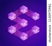 blockchain isometric... | Shutterstock .eps vector #1130975981