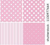 vector pattern set. seamless... | Shutterstock .eps vector #1130977664
