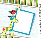 template greeting card  vector... | Shutterstock .eps vector #113097769