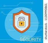 cyber security emblem   Shutterstock .eps vector #1130990861