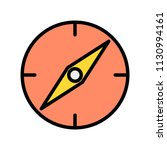 compass line filled icon