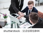 handshake manager and the...   Shutterstock . vector #1131001844