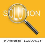 magnifying glass business... | Shutterstock .eps vector #1131004115