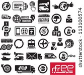 logistics icons. logistic... | Shutterstock .eps vector #113100574