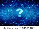 2d illustration question mark ... | Shutterstock . vector #1131011831