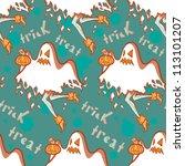seamless halloween pattern.... | Shutterstock .eps vector #113101207