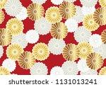seamless chrysanthemum pattern... | Shutterstock .eps vector #1131013241
