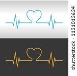 heartbeat design logo | Shutterstock .eps vector #1131013634