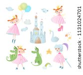 princess s adventure. set of...   Shutterstock .eps vector #1131024701