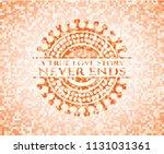 a true love story never ends... | Shutterstock .eps vector #1131031361