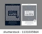 set of flyer templates with... | Shutterstock .eps vector #1131035864