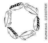 monochrome circle frame of...   Shutterstock .eps vector #1131037835