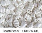 polystyrene or white styrofoam... | Shutterstock . vector #1131042131