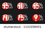 red discount ball set 55  off... | Shutterstock .eps vector #1131058451