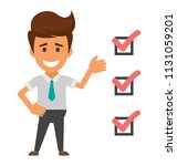 a person with task list...   Shutterstock .eps vector #1131059201
